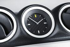 NEW SUZUKI VITARA CARBON CLOCK WITH CHROME SURROUND (genuine suzuki)