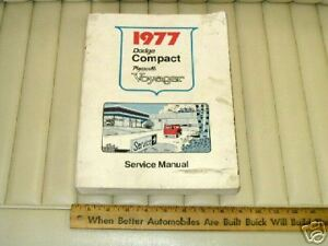 1977-Dodge-Compact-Plymouth-Voyager-Shop-Service-Manual-OEM