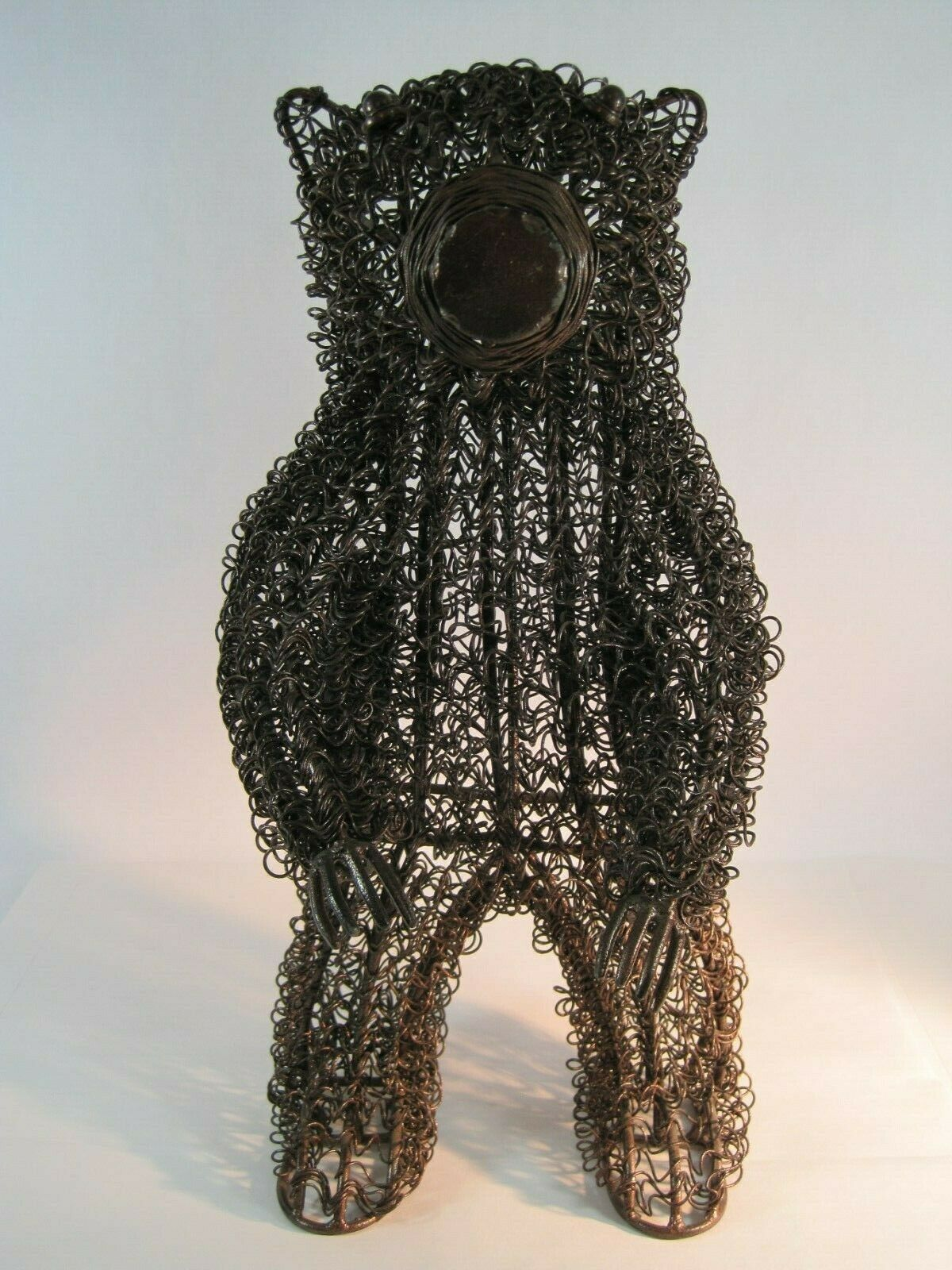 Tall Standing Bear Metal Swirls Cabin Ranch Wildlife Decor Country Themed Art