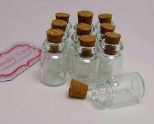 Dollhouse miniature glass bottles 10 glass bottle Jars with Cork cap 50 mm.hot