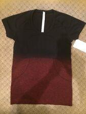 Lululemon Swiftly Tech Short Sleeve Scoop Fade True Red Black FAN GEAR RIO Sz.10