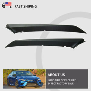 For 2018 Toyota Camry Front Bumper Trim Driver & Passenger Side Upper Textured