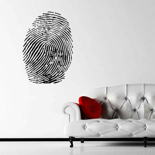 Fingerprint Decorative Wall Sticker Decal Transfer DNA Design Home Matt Vinyl UK