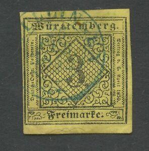Altdeutschland-Wuerttemberg-1851-Mi-2a-I-gestempelt-sh-Scan