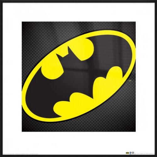 """TEXTURED BAT LOGO BATMAN FRAMED ART PRINT // POSTER SIZE: 16/"""" x 16/"""""""