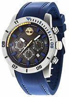 Timberland Men's Quartz Watch With Black Dial Analogue Display And Blue Silic...