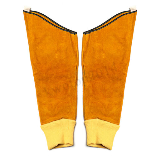 1 Pair Cow Leather Welding Elastic Cuff Welder/'s Long Protective Glove Sleeves