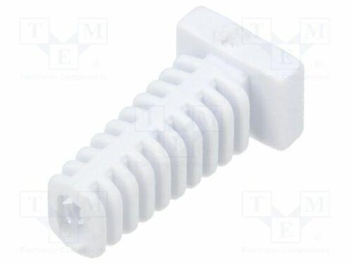25mm FIX-5.5X2.8X25-WH D max.2,2mm  L Knickschutztülle weiß Frontplattenstärke