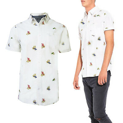 Erfinderisch Brave Soul Mens Charles Short Sleeve Deckchair Pattern Shirt Cotton Designer Top
