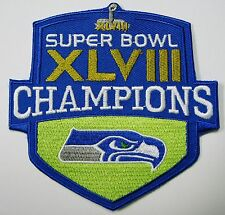 LOT OF 1) NFL SEATTLE SEAHAWKS EMBROIDERED SUPERBOWL CHAMPIONS XLVIII PATCH # 35