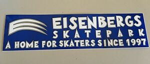 "Eisenbergs Skatepark A Home For Skaters Sticker Blue/Grey/White  11.5 x 3"""