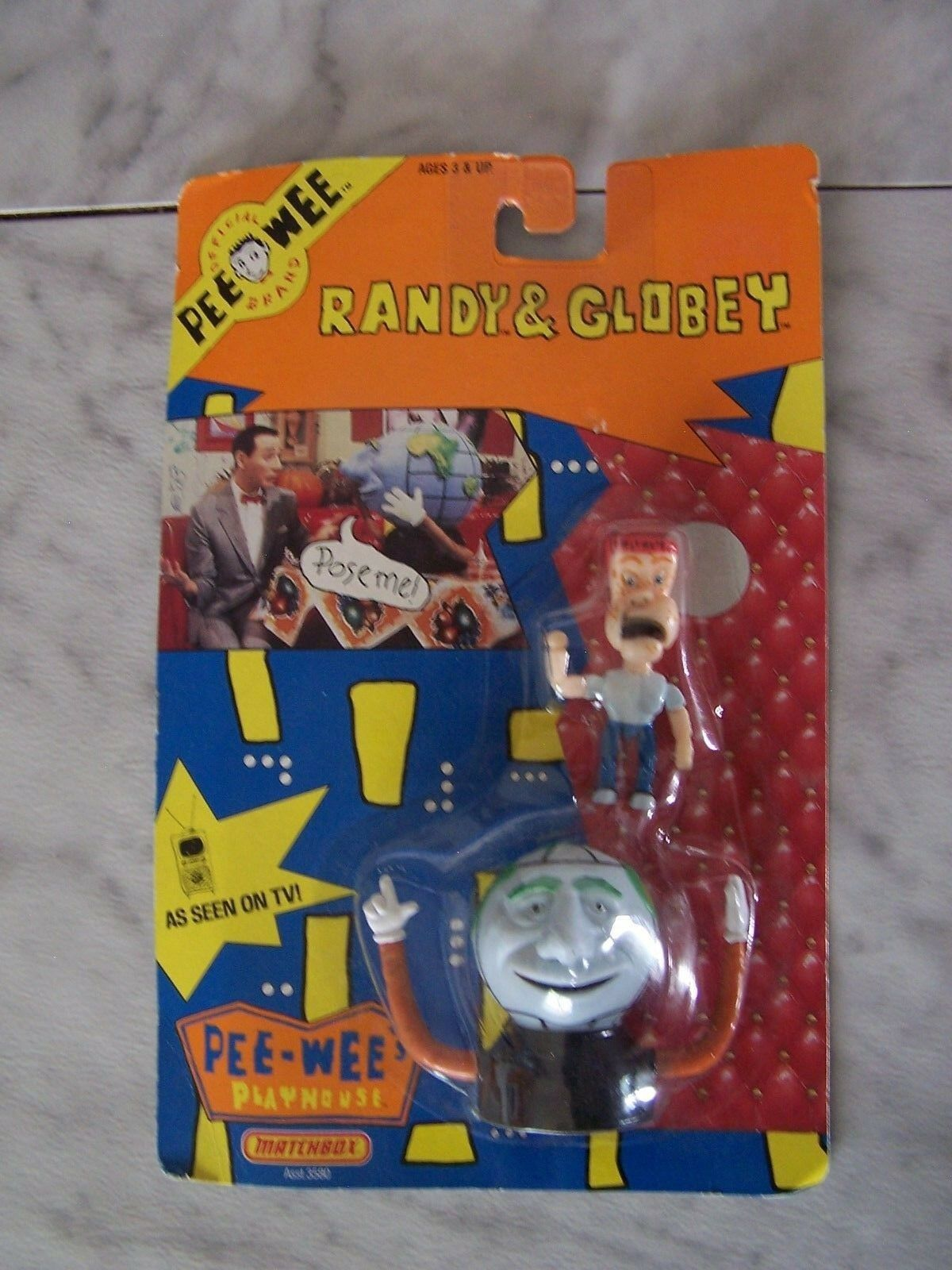 1988 PEE WEE Herman RANDY And GLOBEY Figures (NEW)