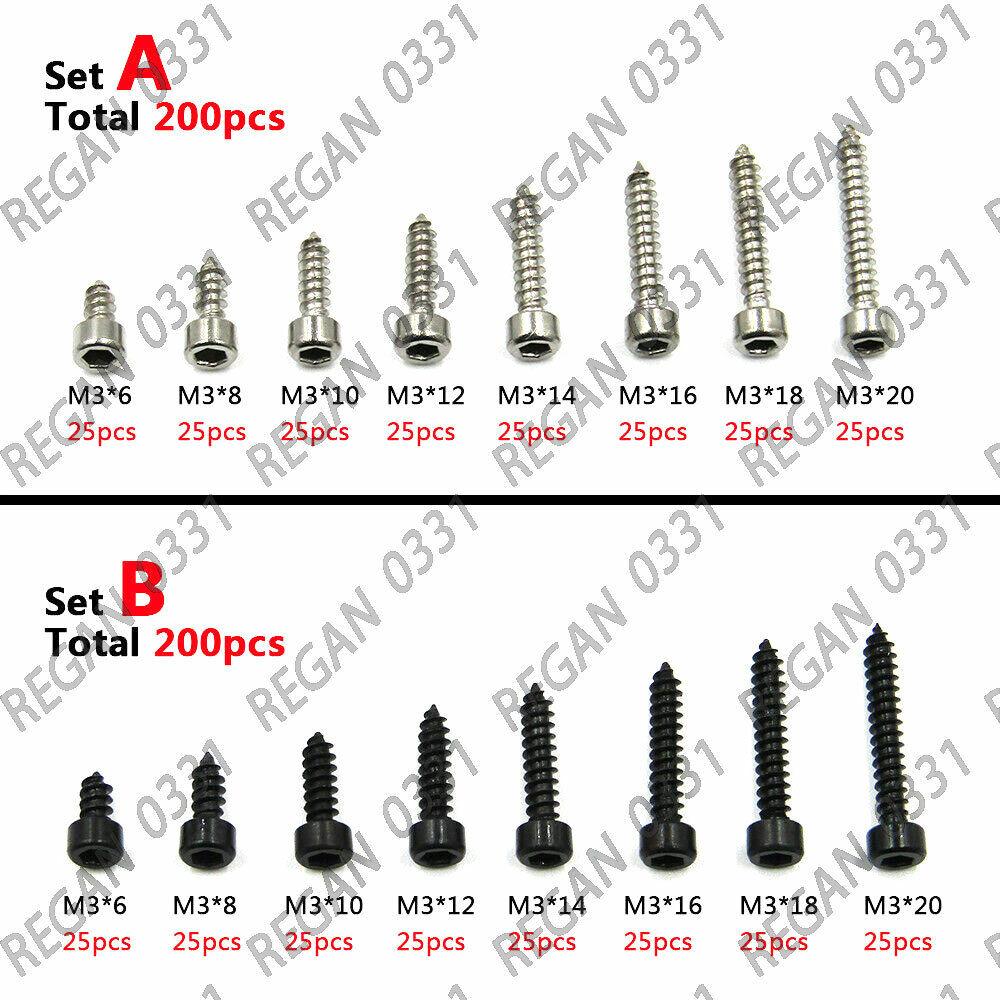M3x16mm Phillips Flat Head Self Tapping Screws// 304 Stainless Steel Sheet Metal Screws Wood Screws 100 Pcs M3x16mm