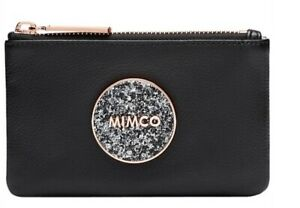 MIMCO-Black-Small-Pouch-BLISS-Leather-Wallet-Clutch-Bag-BNWT-Rosegold-Sparks-New