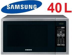 Image Is Loading Samsung 40l 1000w Stainless Steel Microwave Oven Ceramic