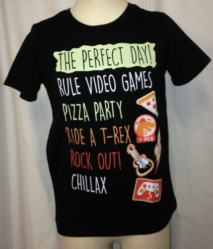 Epic Threads Boys The Perfect Day Graphic Print T-Shirt Black Multi Sizes