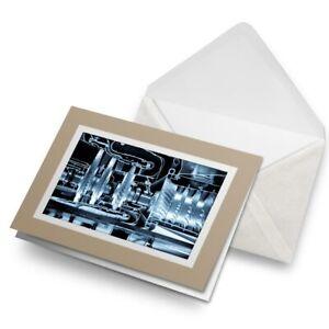 Greetings-Card-Biege-Industrial-Power-Plant-Gears-Turbine-16423