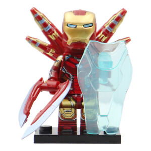 Includes Shield Ironman - Marvel Lego Compatible Minifigure Avengers End Game
