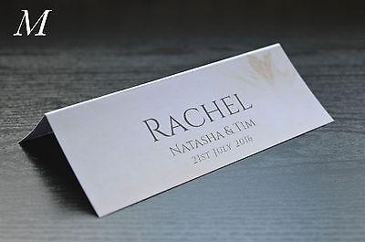 Accurato Nome Personalizzato Matrimonio Posto Tavola Carte Stampate Assortiti Designs-mostra Il Titolo Originale