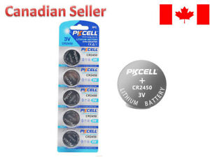 5x CR2450 DL2450 3V Piles Lithium Battery Button Cell Coin for Watch Toy PKCELL