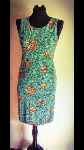 16bdc3e7 2 of 7 HERMES PARIS Women's Vintage Mosaic Sleeveless Sheath Dress Sz. 8  MSRP. $4395