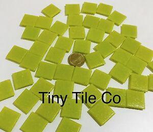50pcs-Yellow-Glass-Mosaic-Tiles