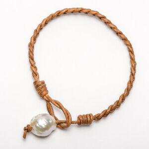 Lederarmband-geflochten-12mm-Barock-Weiss-Kasumi-Perle-Leder-Armband-7-5-8-039-039