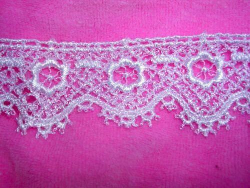 """Pretty Venice Floral Lace Rayon Edge 10yd Craft Trim 1/""""  Dolls 1706a"""