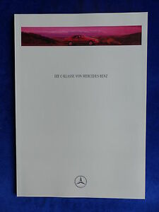 Mercedes-Benz-C-Klasse-W202-MJ-1994-60-Seiten-Prospekt-Brochure-11-1993