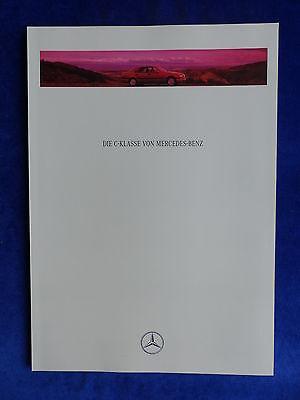 Prospekt Brochure 11.1993 Mercedes-Benz C-Klasse W202 MJ 1994-60 Seiten