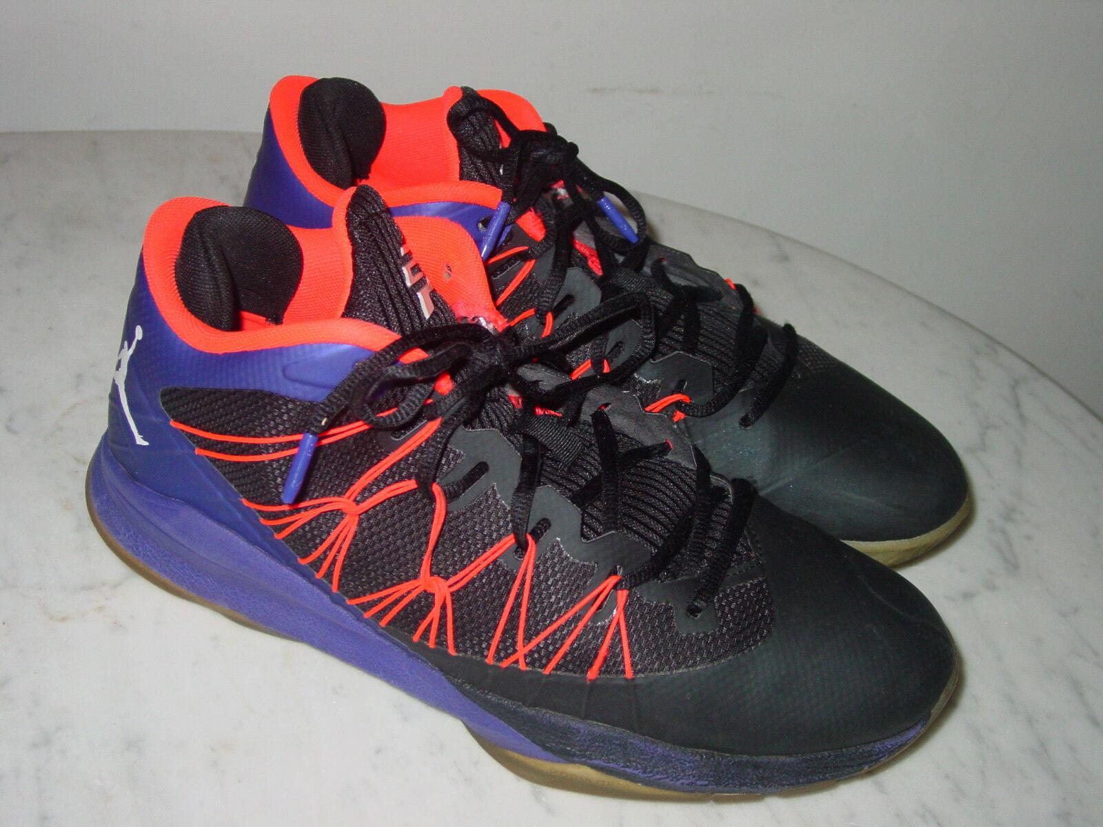 Casual wild 2018 Nike Air Jordan CP3 VII AE Black/White/Dark Concord Shoes! Comfortable