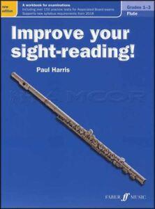 Intelligent Améliorer Votre Vue-de Lecture Flute Grades 1-3 Partitions Livre Paul Harris Mise à Jour-afficher Le Titre D'origine