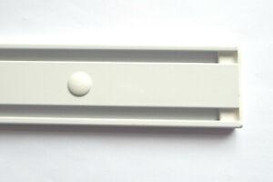 Vorhangschiene-2-Lauf-Aluminium-weiss-auch-fuer-Schiebegardinen-Flaechenvorhaenge