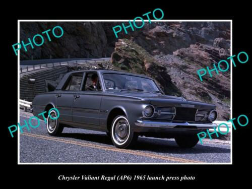 OLD 6 X 4 HISTORIC PHOTO OF 1965 AP6 CHRYSLER VALIANT REGAL LAUNCH PRESS PHOTO