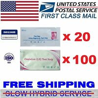 Rapidanswer 100 (lh) Ovulation Tests And 20 (hcg) Pregnancy Test Kit- Combo Pack
