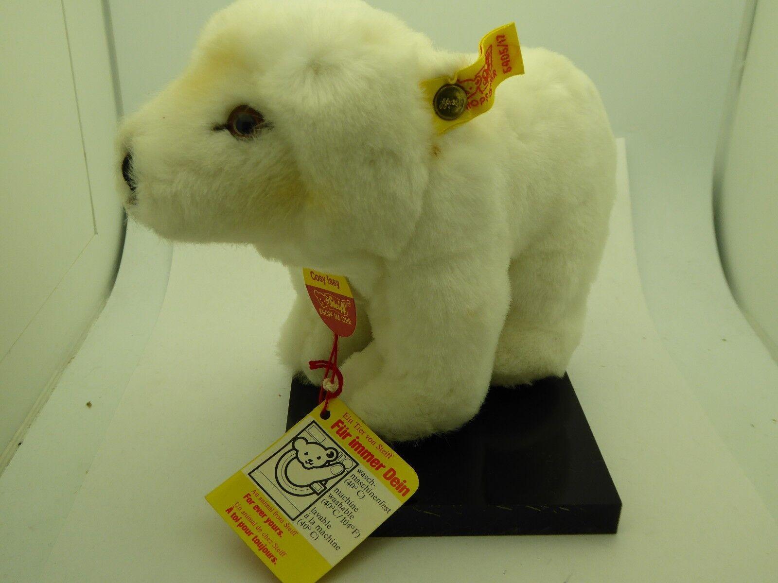 Vintage Steiff Cosy Issy Polar Bear Original Tags Number 6405 17 West Germany