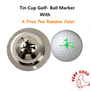 Tin-Cup-Golf-Ball-Marker-Design-Stencil-With-A-Pen-Random-Color-Alignment-Tool