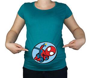 Details Zu Schwangerschaft Weich Spiderman Baby Superheld Baumwolle Lustig Druck Geschenk