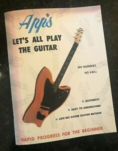 NEW Beginner Guitar Lesson Book by OW APPLETON & Chord Chart REPRINTED BY DEMAND