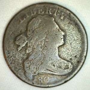 1803 Draped Bust Copper Large Cent Early Penny Circulated Type Coin S259 Fine 1c