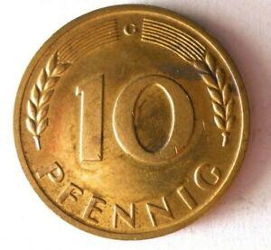 1969G Alemania 10 Pfennig - Excelente Moneda - Alemán Bin #8