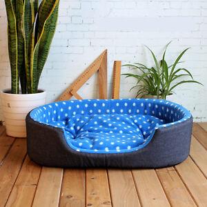 Pet-Dog-Puppy-Cat-Warm-Bed-Plush-Cozy-Nest-Kennel-Mat-Soft-Fleece-Dog-House