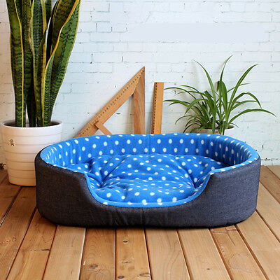 Pet Dog Puppy Cat Warm Bed Plush Cozy Nest Kennel Mat Soft Fleece Dog House