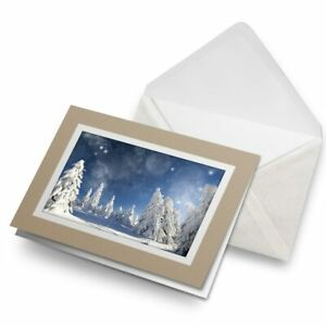 Greetings-Card-Biege-Awesome-Snow-Scene-Winter-Skiing-8594