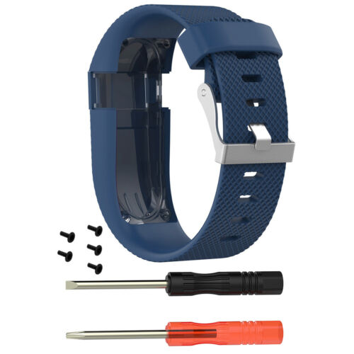 Sports Silicone Wrist Band Strap Kit for Fitbit Charge HR Activity Tracker S /& L
