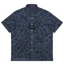 Xl Floral Fit Button Blue Polo Mens Slim Down Ralph Lauren Shirt NPkn80wOX