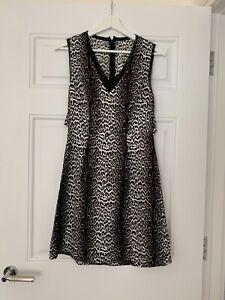NEW Fab Reiss Cathleen Black//Multi Floral Pockets Midi Shirt Dress RP £225 4 6 8