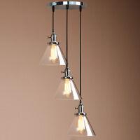 3 Ceiling Light Cluster Pendant Lamp Fittings Vintage Antique Chandelier Fixture
