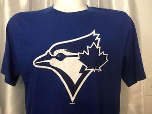 BLUE-JAYS-Big-ACE-Logo-TORONTO-Authentic-Majestic-MLB-T-Shirt-adult-L-42-034-Canada