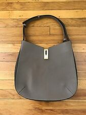 Authentic Anya Hindmarch Albion hobo bag in dark grey (taupe) in goat skin